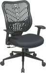 Space EPICC SpaceFlex Back Task Chair with Adjustable Seat Height and Arms - Raven Back and Raven Seat [88-33BB918P-FS-OS]