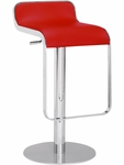 Equino Swivel Barstool in Red [301112-FS-ZUO]