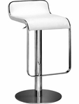 Equino Swivel Barstool in White [301113-FS-ZUO]