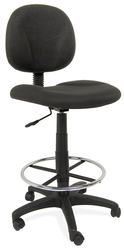 Ergo Pro Armless Drafting Chair With Height Adjustable Chrome Footring And Ca