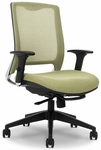 GLO 7.5 High-Back Ergonomic Task Chair - Red [GLO9-5-F-KM566-SK168-FS-EOF]
