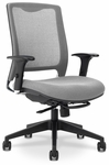GLO 7.5 High-Back Ergonomic Task Chair - Grey [GLO9-5-F-KM566-SK169-FS-EOF]