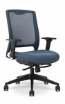 GLO 7.5 High-Back Ergonomic Task Chair - Green [GLO9-5-F-KM566-SK166-FS-EOF]