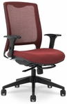 GLO 7.5 High-Back Ergonomic Task Chair - Navy [GLO9-5-F-KM566-SK167-FS-EOF]