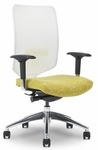 Newair 26.5'' W x 28'' D x 40.4'' H Adjustable Height High-Back Ergonomic Task Chair - White Back with Black Base [E-67682-FS-EOF]
