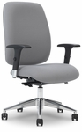 Viva 28.5'' W x 31.5'' D x 46.75'' H Adjustable Height High-Back Task Chair - Chrome Base [E-74786-FS-EOF]