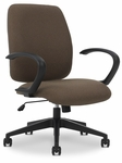 Viva 26.2'' W x 25.5'' D x 37.2'' H Adjustable Height Medium Back Task Chair - Chrome Base [E-74751-A320-FS-EOF]
