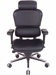 Ergohuman Series High Back 26.5'' W x 29'' D x 46'' H Adjustable Height Task Chair - Black Leather [LE9ERG-FS-EURO]