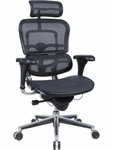 Ergohuman Series High Back 26.5'' W x 29'' D x 46'' H Adjustable Height Mesh Office Chair - Black [ME7ERG-W09-1-FS-EURO]