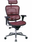 Ergohuman Series High Back 26.5'' W x 29'' D x 46'' H Adjustable Height Mesh Office Chair - Plum Red [ME7ERG-KM12-FS-EURO]
