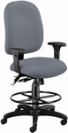 Ergonomic Task Chair With Drafting Kit - Gray [125-DK-801-FS-MFO]