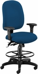 Ergonomic Task Chair With Drafting Kit - Navy [125-DK-804-FS-MFO]