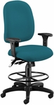 Ergonomic Task Chair With Drafting Kit - Teal [125-DK-802-FS-MFO]