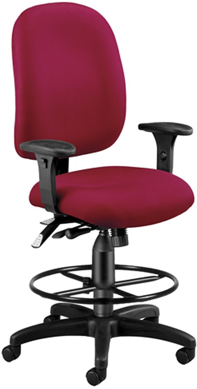 Ergonomic Task Chair With Drafting Kit Wine 125 DK 803 By OFM