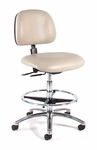 Ergonomic Laboratory Chair Aluminum Foot Rest [833-FS-INT]