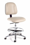 Ergonomic Laboratory Chair Polished Aluminum Base [813-FS-INT]