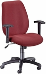 Ergonomic Manager's Chair - Burgundy [611-63-FS-MFO]