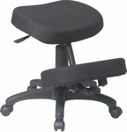 Work Smart Ergonomically Designed Knee Chair with Memory Foam - Black [KCM1425-FS-OS]