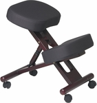 Work Smart Ergonomically Designed Wood Knee Chair - Mahogany [KCW773-FS-OS]