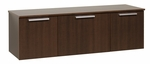 Coal Harbor Wall Mounted Buffet with Hidden Self Closing Hinges - Espresso [ECBW-0203-1-FS-PP]