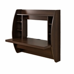 Floating 42.25''W Desk with 7 Open Storage Compartments - Espresso [EEHW-0200-1-FS-PP]