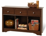 Fremont 30.25''H Living Room Console with 3 Open Storage Compartments and 3 Drawers - Espresso [ELC-4830-K-FS-PP]