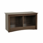 Fremont 36.25''W Twin Cubbie Bench with 2 Open Storage Compartments - Espresso [ESC-3620-FS-PP]