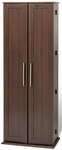 Grande Locking Media Storage Cabinet with Shaker Doors and Brushed Nickel Handles - Espresso [ELS-0448-K-FS-PP]