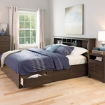 Mate's King Size Platform Storage Bed with 6 Drawer Storage - Espresso [EBK-8400-K-FS-PP]
