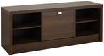 Series 9 Designer 53.75''W Cubbie Bench with 3 Large Storage Compartments - Espresso [EUBR-0501-1-FS-PP]