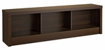 Series 9 Designer 61.5''W Storage Bench with 3 Open Storage Compartments - Espresso [EUBD-0500-1-FS-PP]