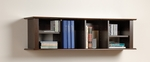Wall Mounted 48''W Desk Hutch with 6 Open Storage Compartments - Espresso [EHD-1348-FS-PP]