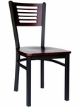 Espy Metal Frame Chair - Slotted Wood Back and Wood Seat [2151CW-SB-BFMS]