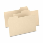 Oxford Index Card Guides -Blank -15 Pt. -1/3 Cut -8'' x 5'' -100/Box -Buff [OXF513BUF-FS-SP]