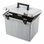 Pendaflex Portable File Box - 13 -3/4''W x 11 -1/2''D x 11''H - Granite [PFX41747-FS-SP]
