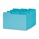 Oxford Pressboard Index Card Guides -Blank -1/3 Cut -4'' x 6'' -100/Box -Blue [OXFP413-FS-SP]