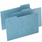 Oxford Pressboard Index Card Guides -Blank -1/3 Cut -8'' x 5'' -100/Box -Blue [OXFP513-FS-SP]