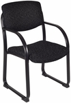 Essex 34''H Metal Frame Guest Chair - Black Fabric [2175-BK-FS-REG]