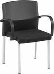 Europa 20.75'' W Stack Chair with Arms - Black [411-MFO]