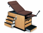 Examination Table With Adjustable Stirrups - 71''W X 71''L X 33''H [HAU-4400-FS-HAUS]
