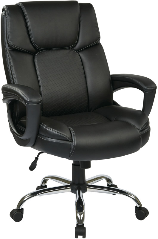 big man 39 s eco leather chair with 350 lb weight capacity black