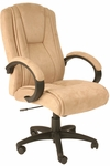 Faux Suede Executive Chair - Beige [60-0971-FS-COM]