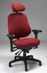 Executive High Back Chair - Burgundy [J3507ASFSSFBG3-FS-ERGS]