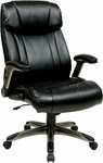 Work Smart Executive High Back Eco Leather Chair with Cocoa Coated Base - Espresso [ECH38615A-EC1-FS-OS]