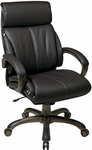 Work Smart Executive Espresso Eco Leather Chair with Locking Tilt Control and Cocoa Coated Base - Espresso [ECH68801-EC1-FS-OS]