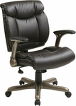 Work Smart Executive Eco Leather Chair with Padded Arms and Cocoa Coated Base - Espresso [ECH8967K5-EC1-FS-OS]