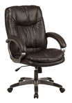 Executive Glove Soft Espresso Leather Chair with Coated Finish Base and Arms [DHL7576-EXP-FS-OS]