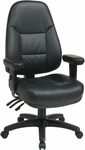 Work Smart Executive High Back Ergonomic Office Chair with Padded Contour Seat and Lumbar Support - Black [EC4300-EC3-FS-OS]