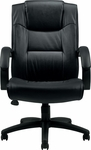 Executive Leather Chair with Integral Headrest - Black [OTG11618B-BL20-FS-GLO]