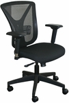 Fermata Executive Mesh Chair with Black Base - Black Fabric [WMCEXBB-FS-MVL]